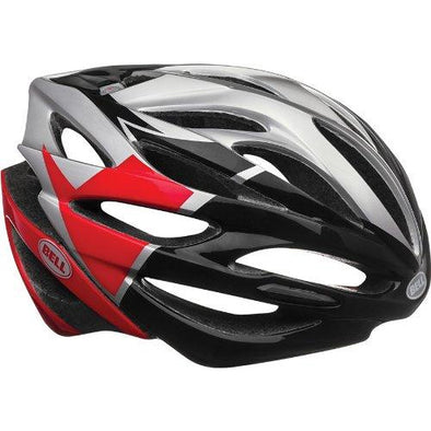 Bell Array Bike Helmet - Silver/Red/Black Velocity Small
