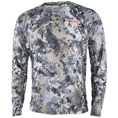 SITKA Gear Men's Hunting Core Lightweight Crew Long Sleeve Shirt, Optifade Elevated II, Large