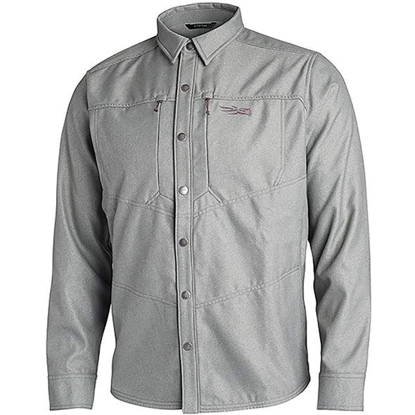 SITKA Gear Highland Long Sleeve Work Overshirt, Granite, L