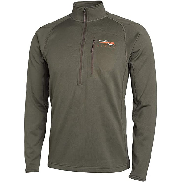 SITKA Gear Men's Core Midweight Zip-T Quick-Dry Odor-Free Long Sleeve Hunting Shirt, Pyrite, Large Tall