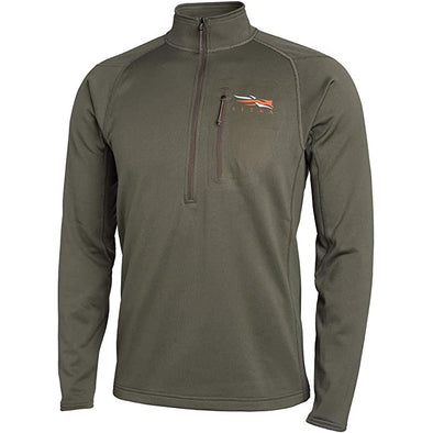SITKA Gear Men's Core Midweight Zip-T Quick-Dry Odor-Free Long Sleeve Hunting Shirt, Pyrite, Medium