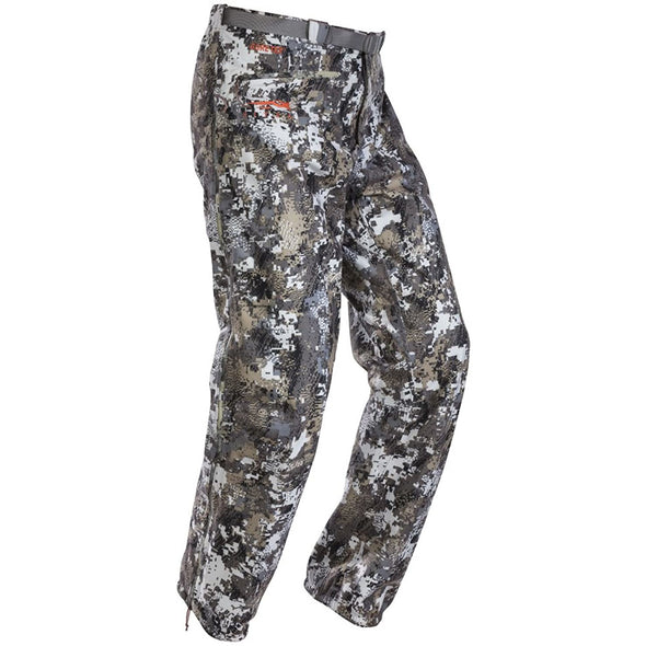 SITKA Gear Men's Downpour Waterproof Articulated Camo Hunting Pants, Optifade Elevated II, Large