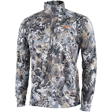 SITKA Gear Men's Core Midweight Zip-T Quick-Dry Odor-Free Long Sleeve Hunting Shirt, Optifade Elevated II, X-Large