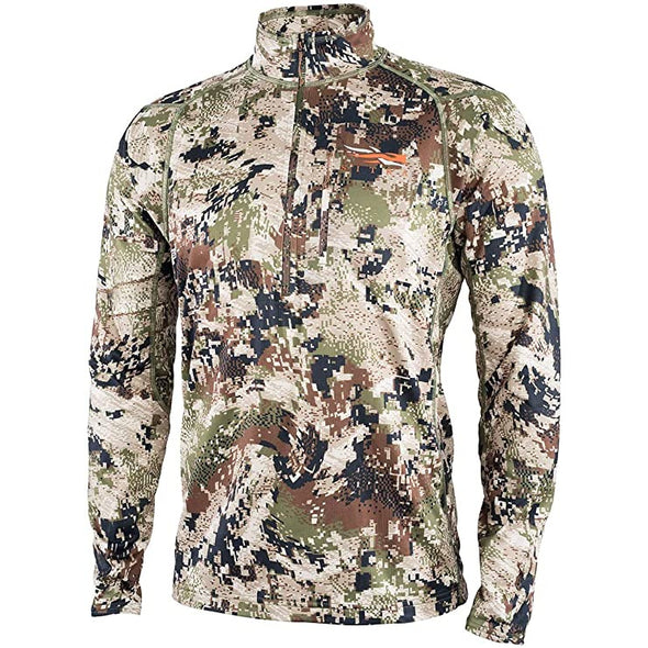 SITKA Gear Men's Core Midweight Zip-T Quick-Dry Odor-Free Long Sleeve Hunting Shirt, Optifade Subalpine, Large