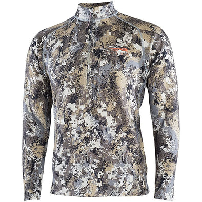 SITKA Gear Merino Heavyweight Half-Zip Optifade Elevated II Medium