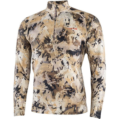 SITKA Gear Merino Heavyweight Half-Zip Optifade Waterfowl, Marsh, XXX Large