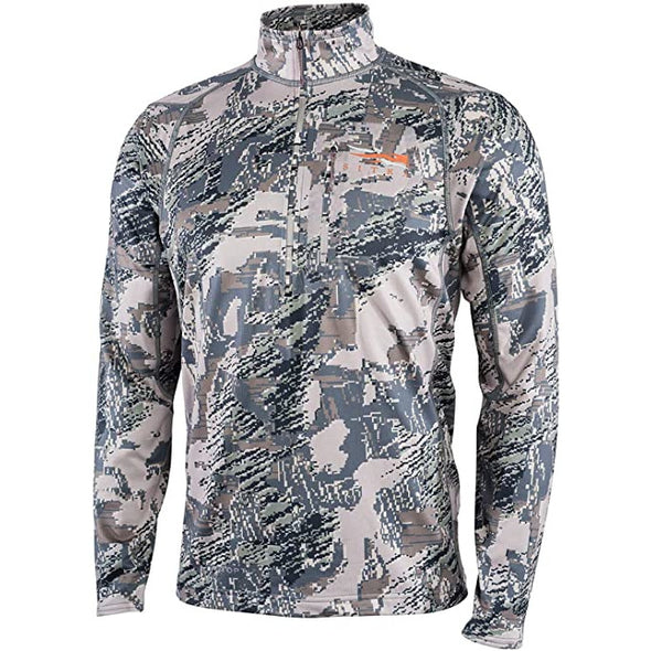 SITKA Gear Men's Core Midweight Zip-T Quick-Dry Odor-Free Long Sleeve Hunting Shirt, Optifade Open Country, Medium