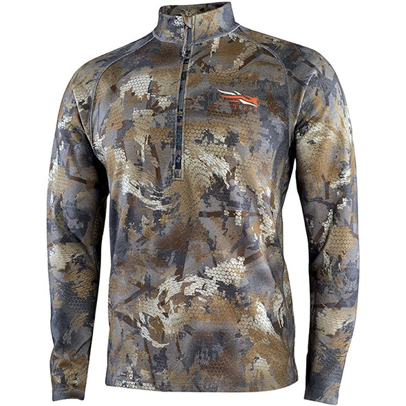 SITKA Gear Merino Heavyweight Half-Zip Optifade Timber Medium