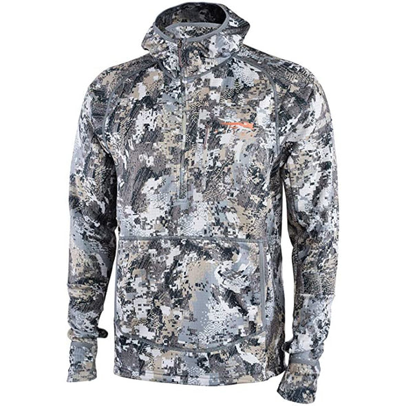 SITKA Gear Men's Comfort Stretch Fleece Fanatic Hoody, Optifade Elevated II, L (70018-EV-L)