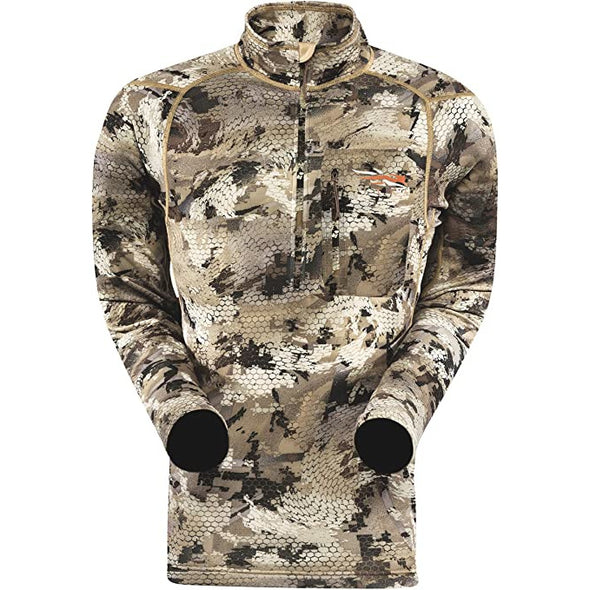 SITKA Gear Men's Core Midweight Zip-T Quick-Dry Odor-Free Long Sleeve Hunting Shirt, Optifade Waterfowl Marsh, Medium