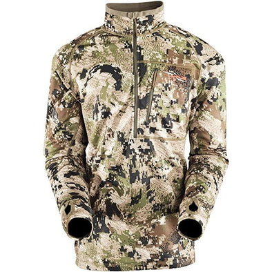 SITKA Gear Men's Traverse Zip-T Abrasion-Resistant Mid-Layer Camo Long Sleeve Hunting Pullover, Optifade Subalpine, Medium