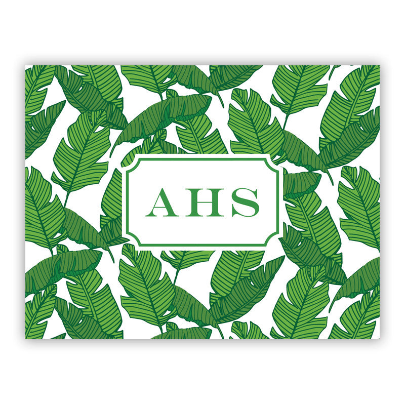 Personalized Folded Notes Banana Leaf by Boatman Geller