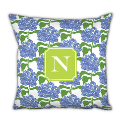 Personalized Square Pillow- Sconset Blue by Boatman Geller