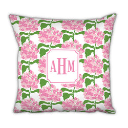 Personalized Square Pillow- Sconset Pink by Boatman Geller