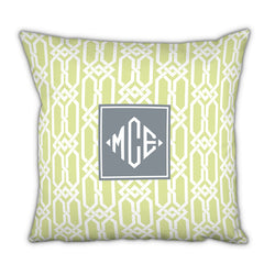 Personalized Square Pillow-Arden Spring by Boatman Geller