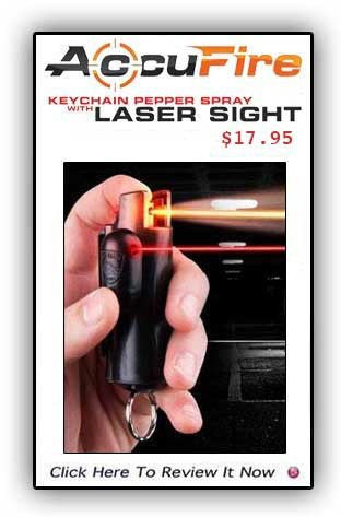 AccuFire Key Chain Pepper Spray With Laser Sight-