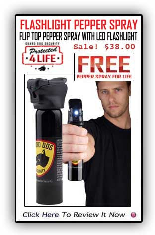 Guard Dog Pepper Spray With Flashlight