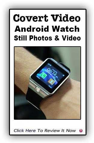 Android Watch Camera- Video And Still Photo Ability!