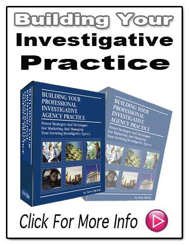 Building Your Professional Investigative Agency Practice E-Book!