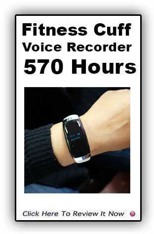 Fitness Cuff  570 Hour Voice Recorder