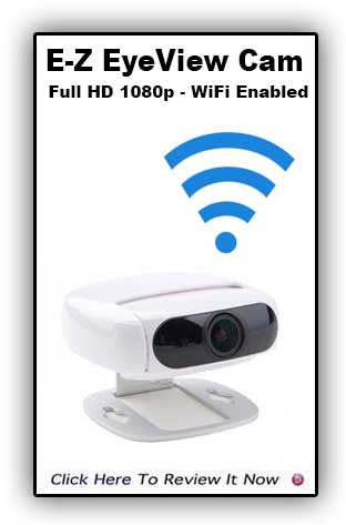 E-Z EyeView Cam -1080p-WiFi, IP, Night Vision, Motion Detection