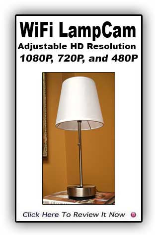 New! WiFi LampCam HD -Adjustable Resolution