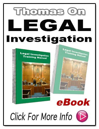 LEGAL INVESTIGATION TRAINING MANUAL E-Book!
