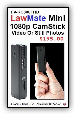 A Best Seller! PV-RC300FHD LawMate CamStick 1080p!