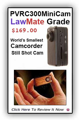A Best Seller! LawMate's PV-RC300mini  Smallest Camcorder!