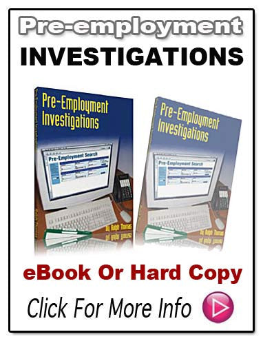 PRE-EMPLOYMENT INVESTIGATION FOR PRIVATE INVESTIGATORS E-Book!