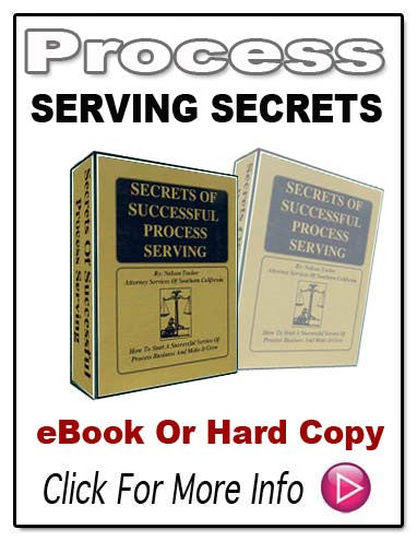 SECRETS OF SUCCESSFUL PROCESS SERVING E-Book!