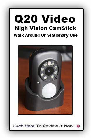 Night vision CamStickQ20: Motion-Activated