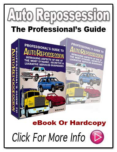 PROFESSIONAL'S GUIDE TO AUTO REPOSSESSION E-Book!!
