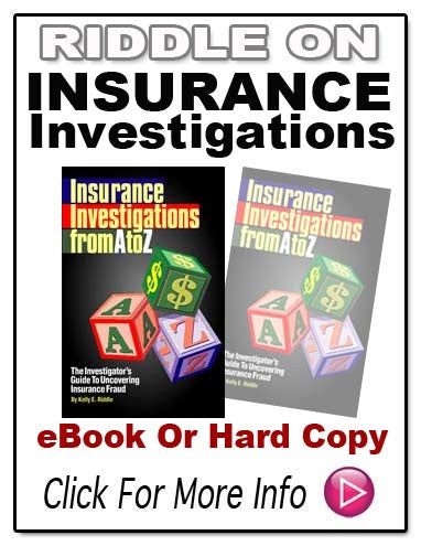 INSURANCE INVESTIGATIONS FROM A TO Z E-Book!