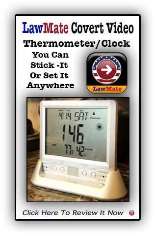 LawMate PV-TM10 Weather Station /Clock Covert Video System