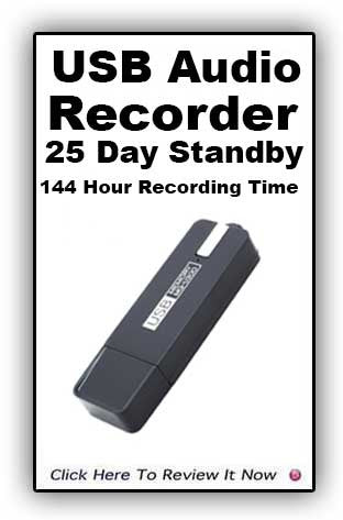 25-DAY STANDBY VOICE RECORDER 4GB  White or Grey