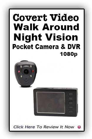 Covert Video Pocket Night Vision Camera And Pocket DVR
