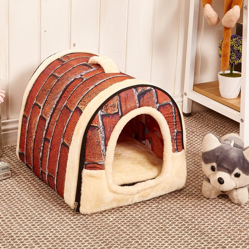 Comfy Kennel Brown Stone Small