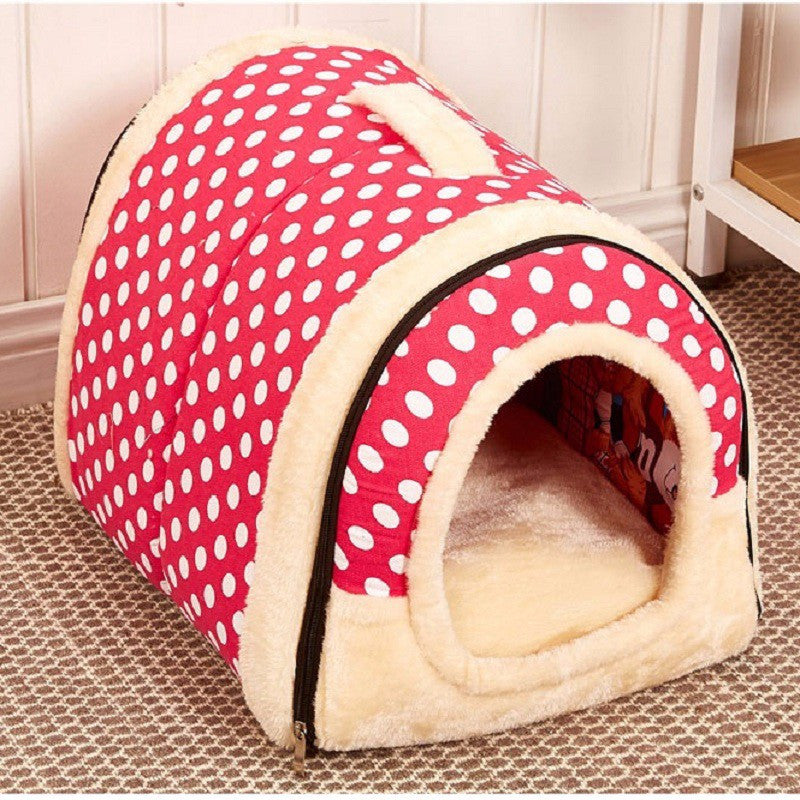 Comfy Kennel Polka Pink Small