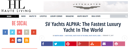 SV Yachts ALPHA: The Fastest Luxury Yacht In The World