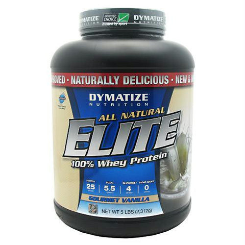 Dymatize All Natural Elite Whey Protein Isolate Gourmet Vanilla - Gluten Free