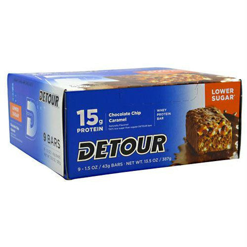 Forward Foods Detour Low Sugar Whey Protein Bar Chocolate Chip Caramel