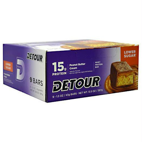 Forward Foods Detour Low Sugar Whey Protein Bar Peanut Butter Cream