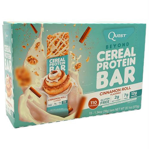 Quest Nutrition Beyond Cereal Protein Bar Cinnamon Roll - Gluten Free