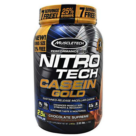 Muscletech Performance Series Nitro Tech Casein Gold Chocolate Supreme - Gluten Free