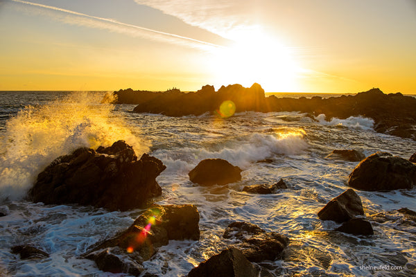 Golden Ucluelet Sky Making a Splash - Coastal Wall Art Photography