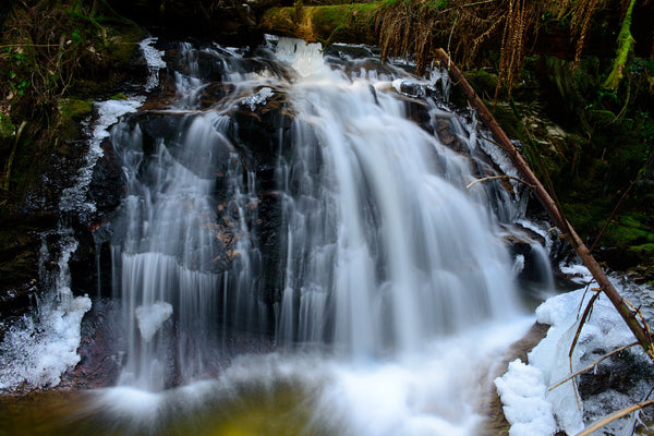 Cliff Gilker Waterfall, Roberts Creek, BC Photography Print by nature photographer Shel Neufeld WildArt Photography