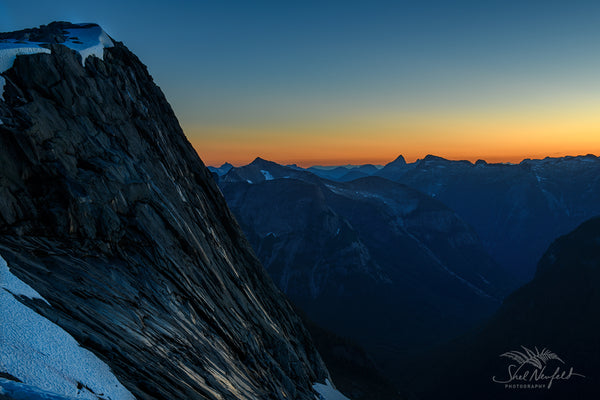 Beautiful sunset and rock mountain photography by Shel Neufeld, Canadian photographer