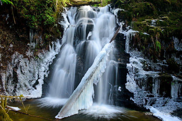 Magical waterfall long exposure photograph - smooth water photo by Shel Neufeld