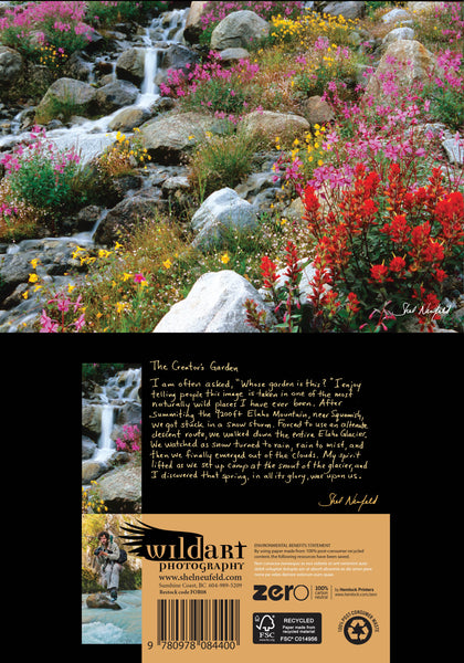colourful Wildflower gardens landscape photography blank greeting card by Shel Neufeld, West Coast nature photographer